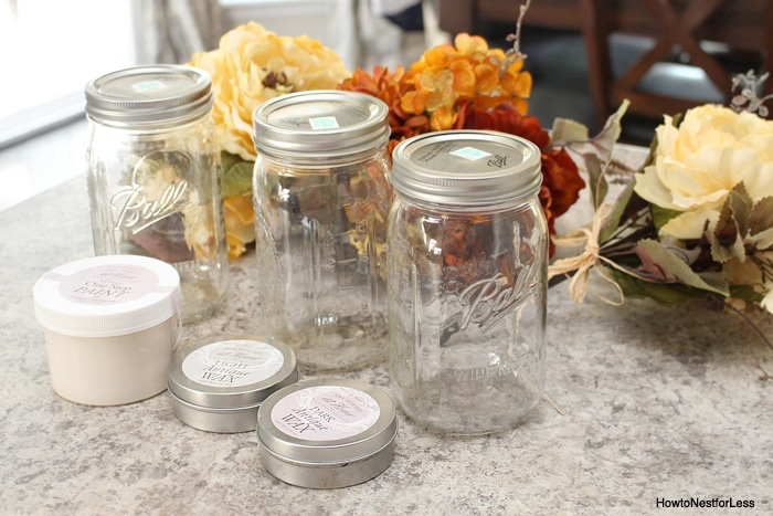 mason jar centerpiece supplies
