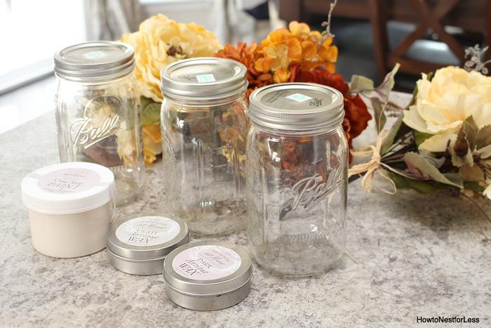 mason jar centerpiece supplies