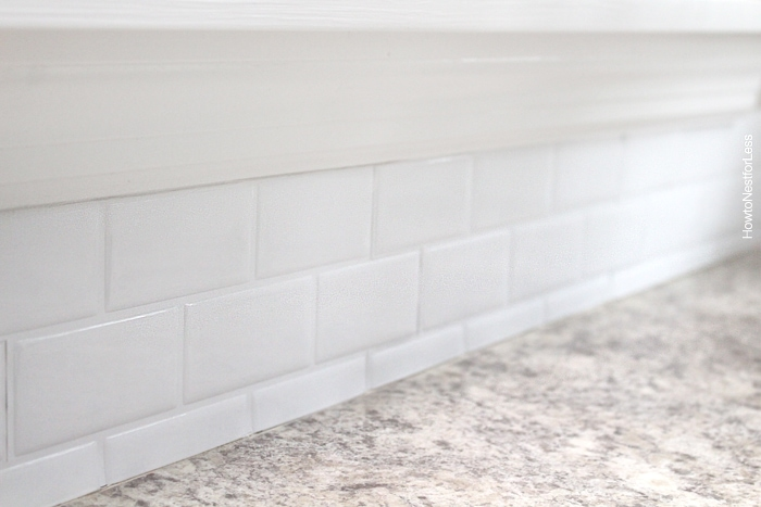 self adhesive kitchen backsplash how to nest for less peel and stick tile backsplash review of pros and cons