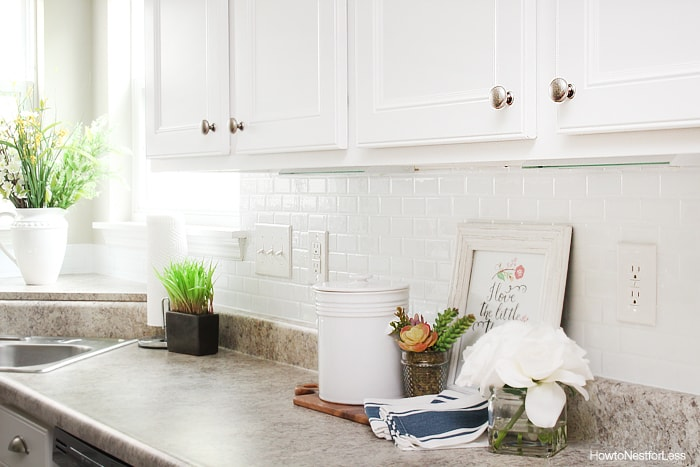 Self adhesive kitchen backsplash   how to nest for less™