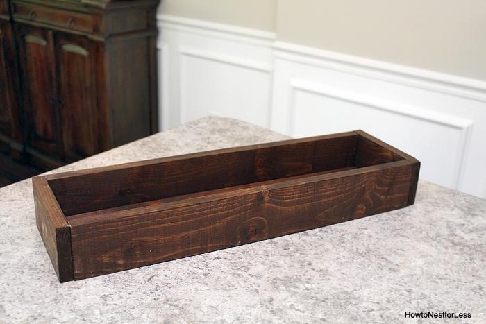 table trough mason jar centerpiece
