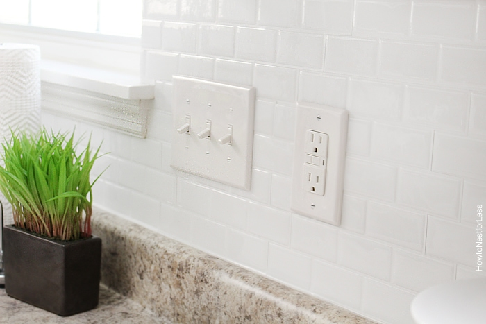 white self adhesive subway tiles