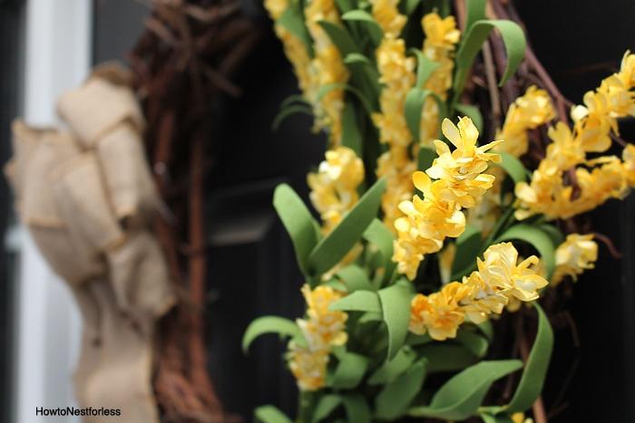 yellow flower wreath ideas