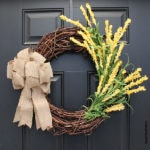 10 Minute Yellow Flower Wreath