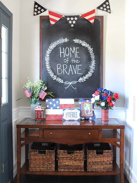 4th of july chalkboard art design