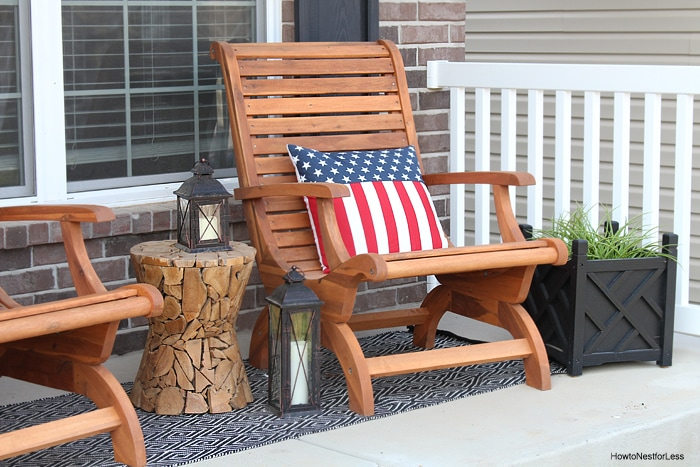 4th of july front porch makeover
