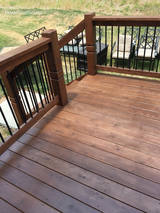 chocolate stained deck