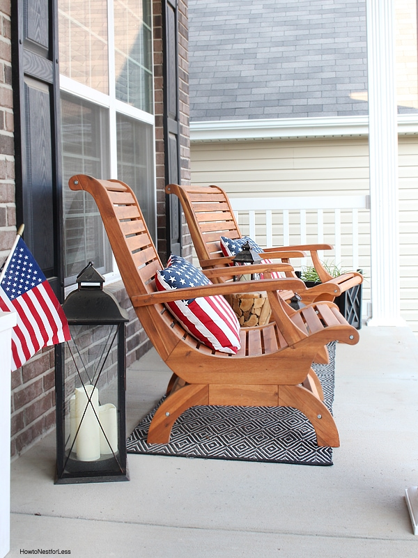 front porch patriotic makeover