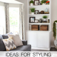 Ideas for Styling Bookshelves