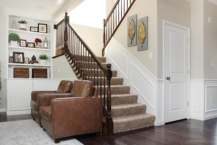 painted family room moldings