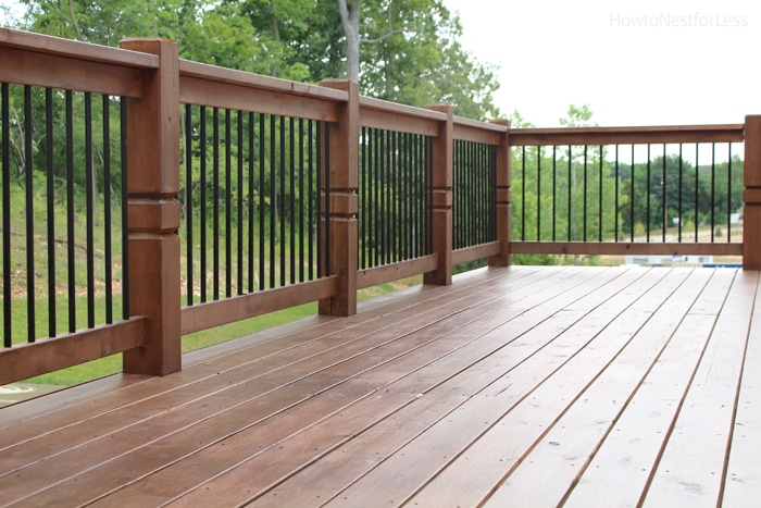 stained behr deck