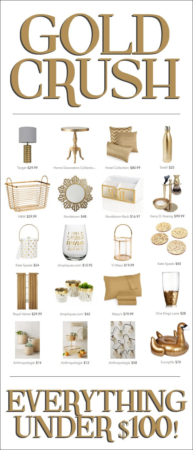 GOLD DECOR ITEMS FOR UNDER $100