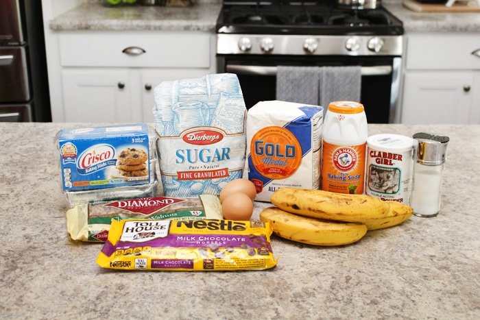 chocolate chip banana nut bread ingredients