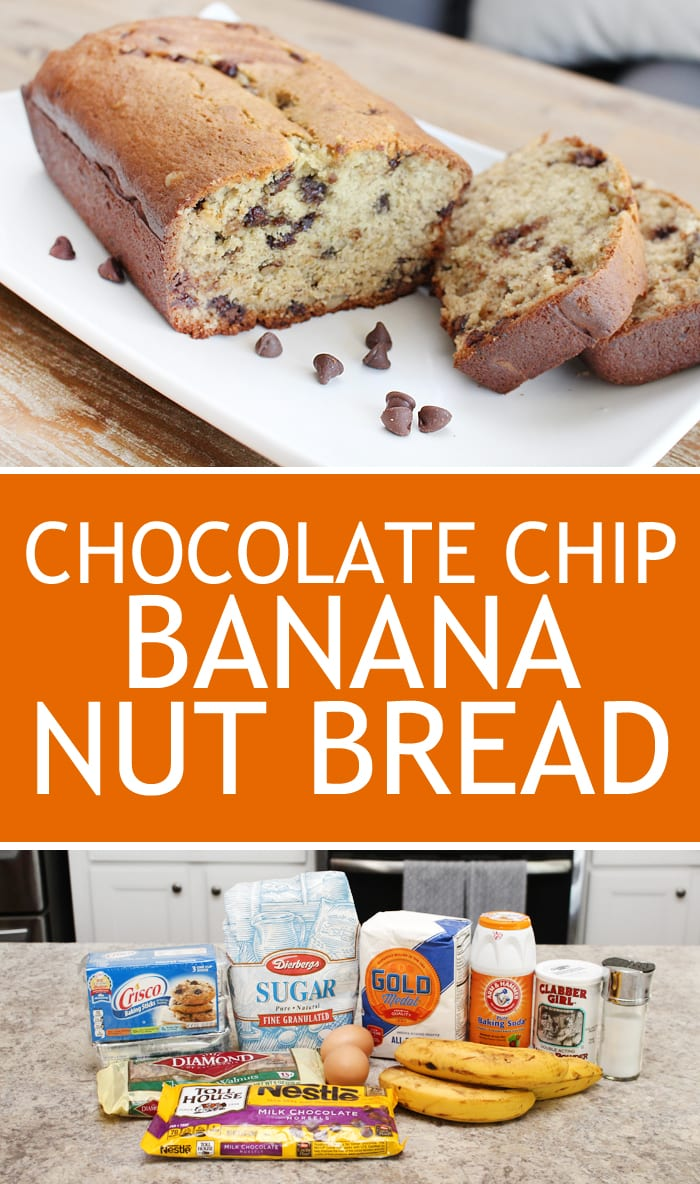 easy chocolate chip banana nut bread recipe