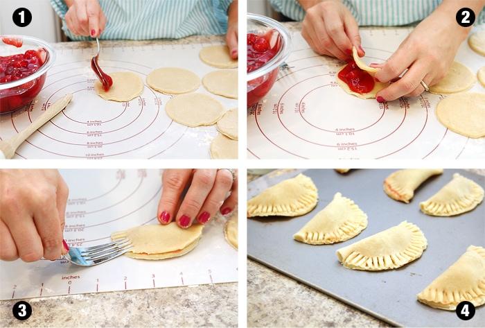 how to make cherry mini pies