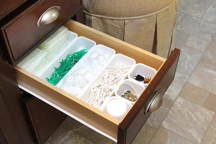 master bath drawer organization