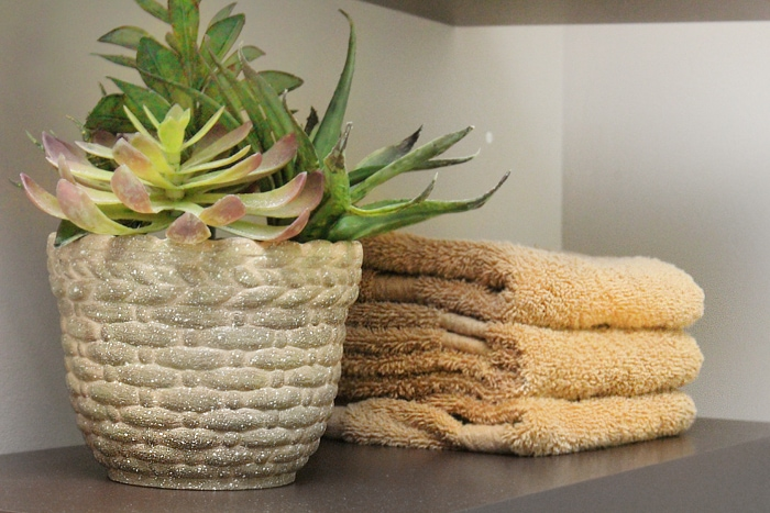 master bath shelf