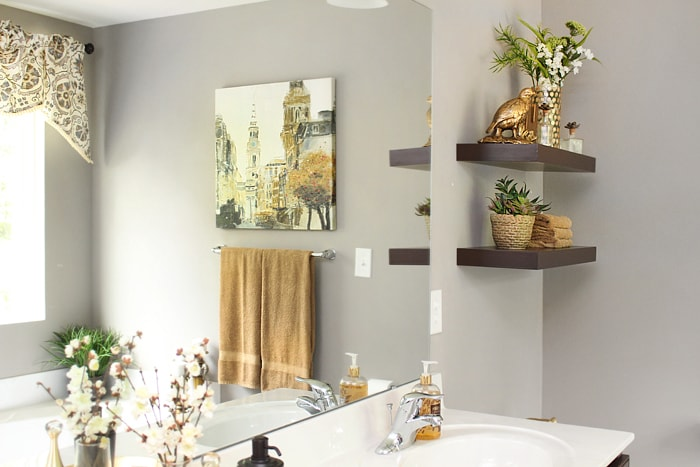 master bathroom shelves