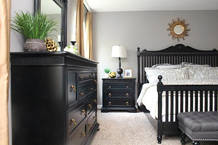 master bedroom black furniture