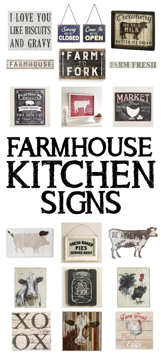 farmhouse kitchen signs