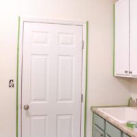 Painted Laundry Room