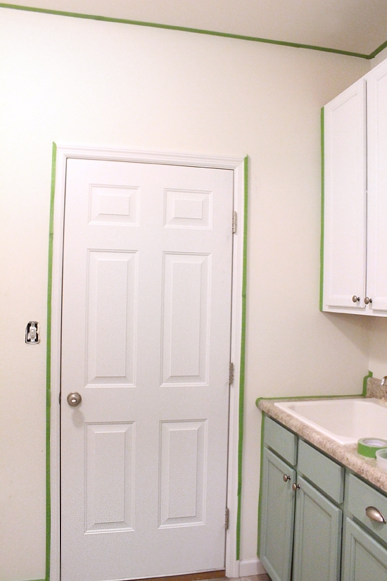 laundry room painted