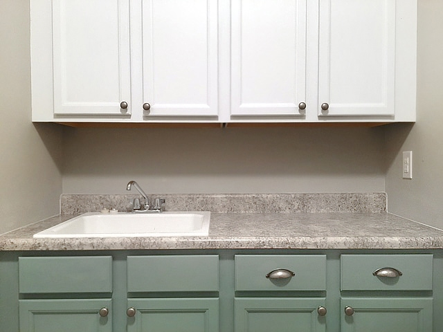 painted cabinets laundry room