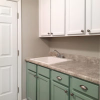 Painted Laundry Room Cabinets