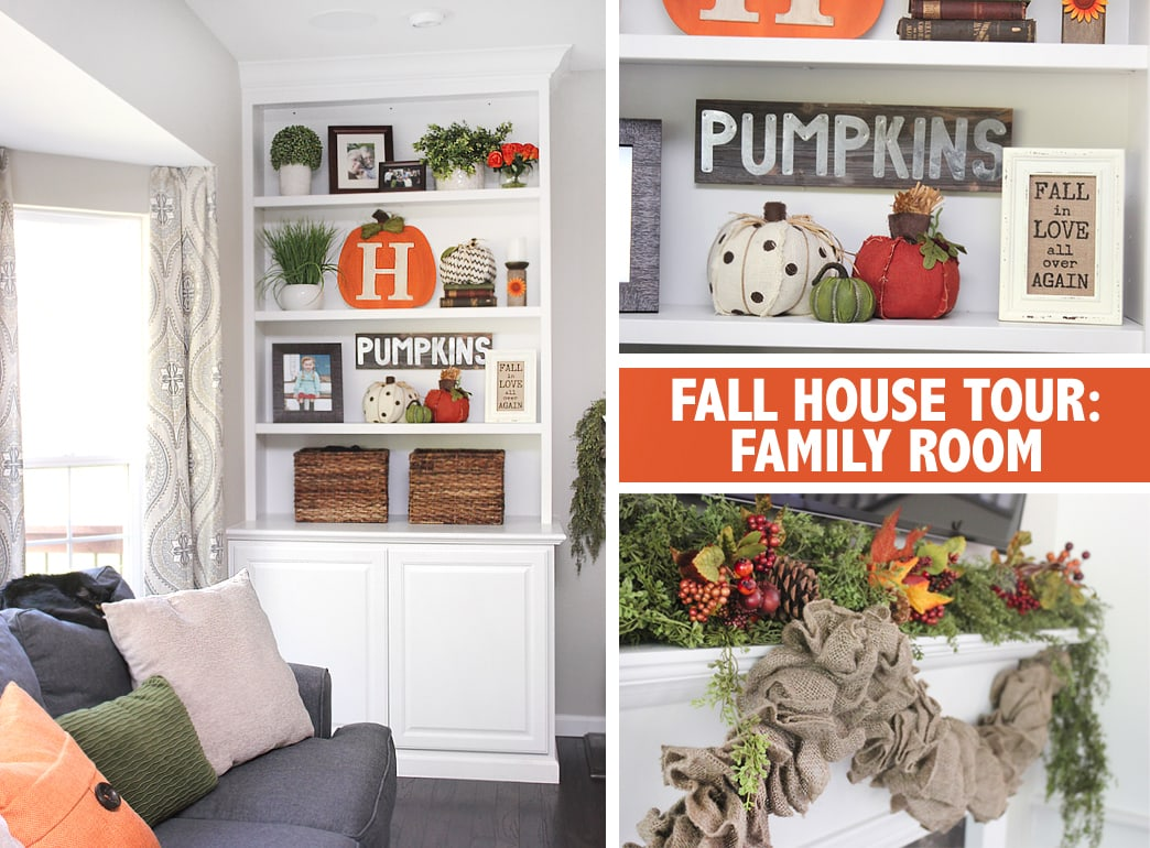 fall house tour family room