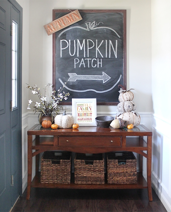 Fall house tour 2016 the foyer how to nest for less - Entryway decorating ideas for small spaces minimalist ...