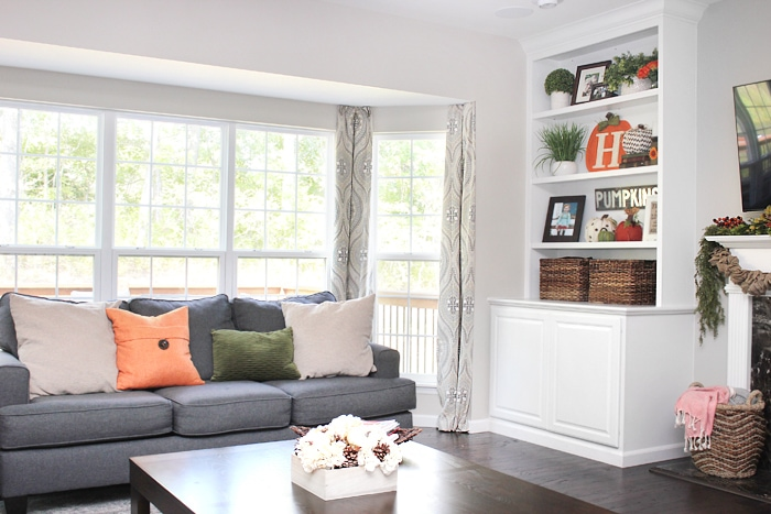 family room fall home tour