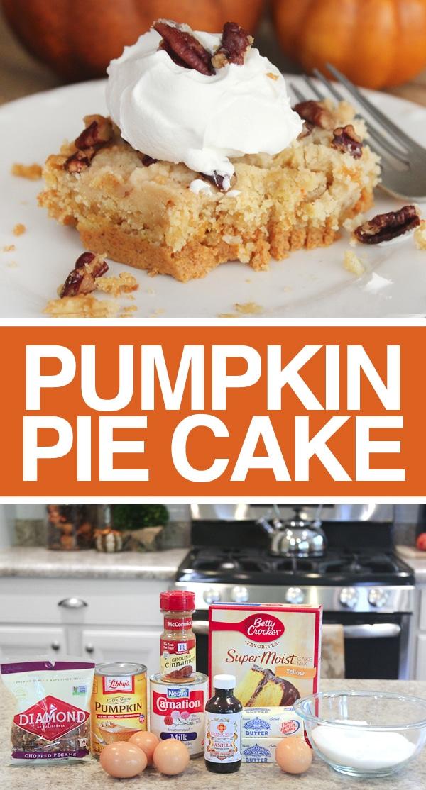 Pumpkin pie cake poster.
