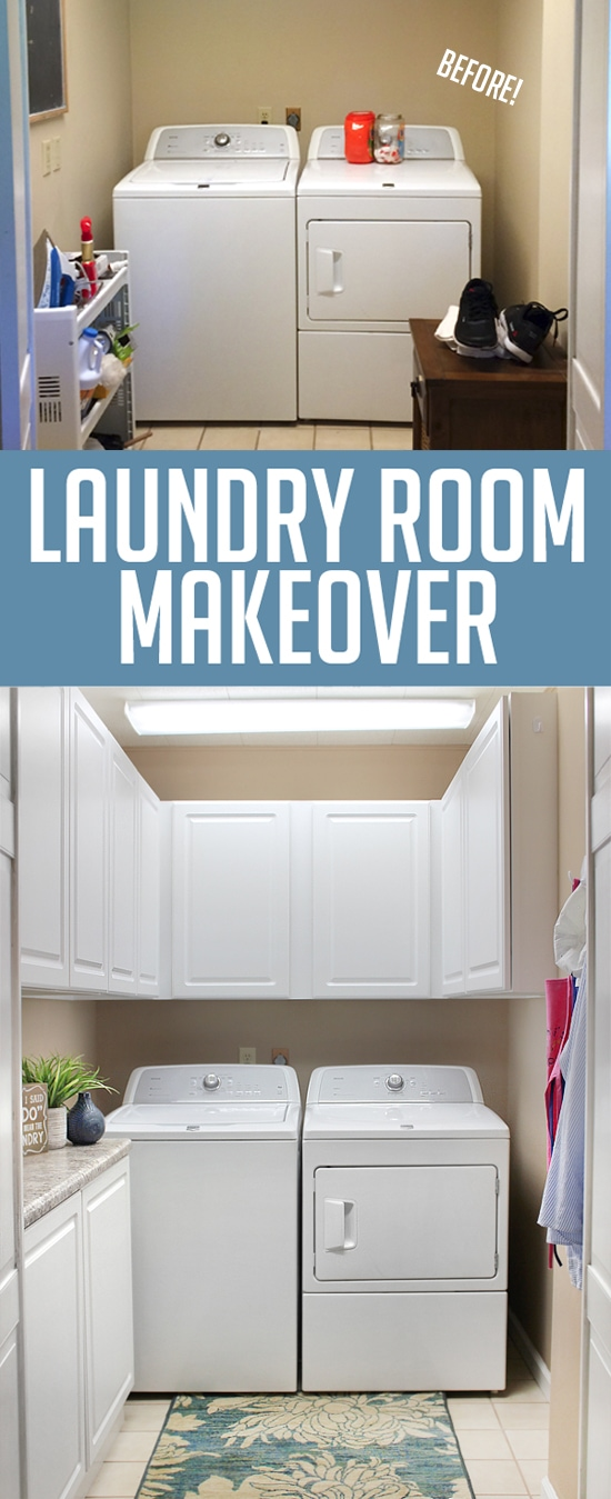 laundry room makeover small laundry room made beautiful. Black Bedroom Furniture Sets. Home Design Ideas