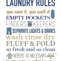 Laundry Rules Free Printable