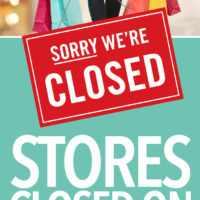 Stores CLOSED on Thanksgiving 2016