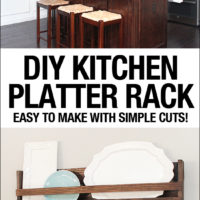 DIY Kitchen Platter Rack