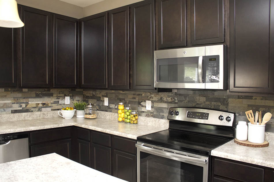 Dark Backsplash Kitchen