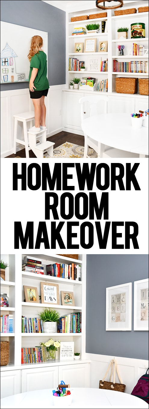 Homework Room Makeover How To Nest For Less