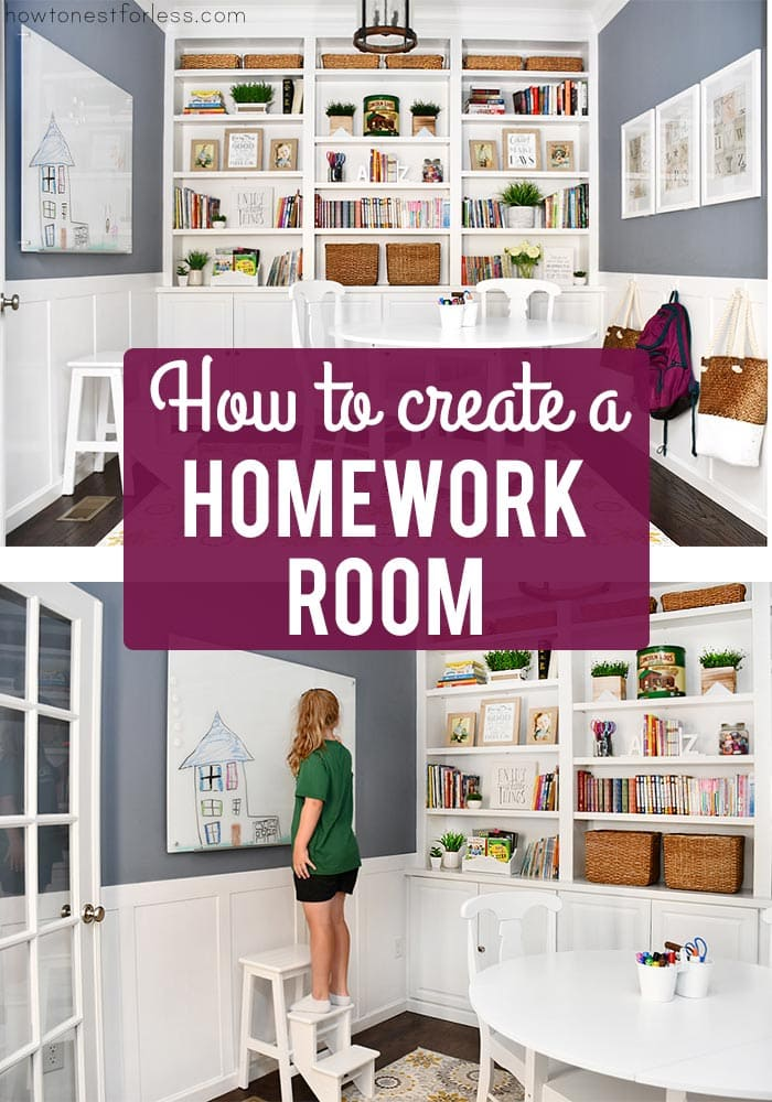 How to create a homework room