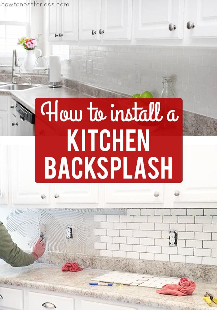 How to install a kitchen backsplash the best and easiest - How to replace backsplash ...