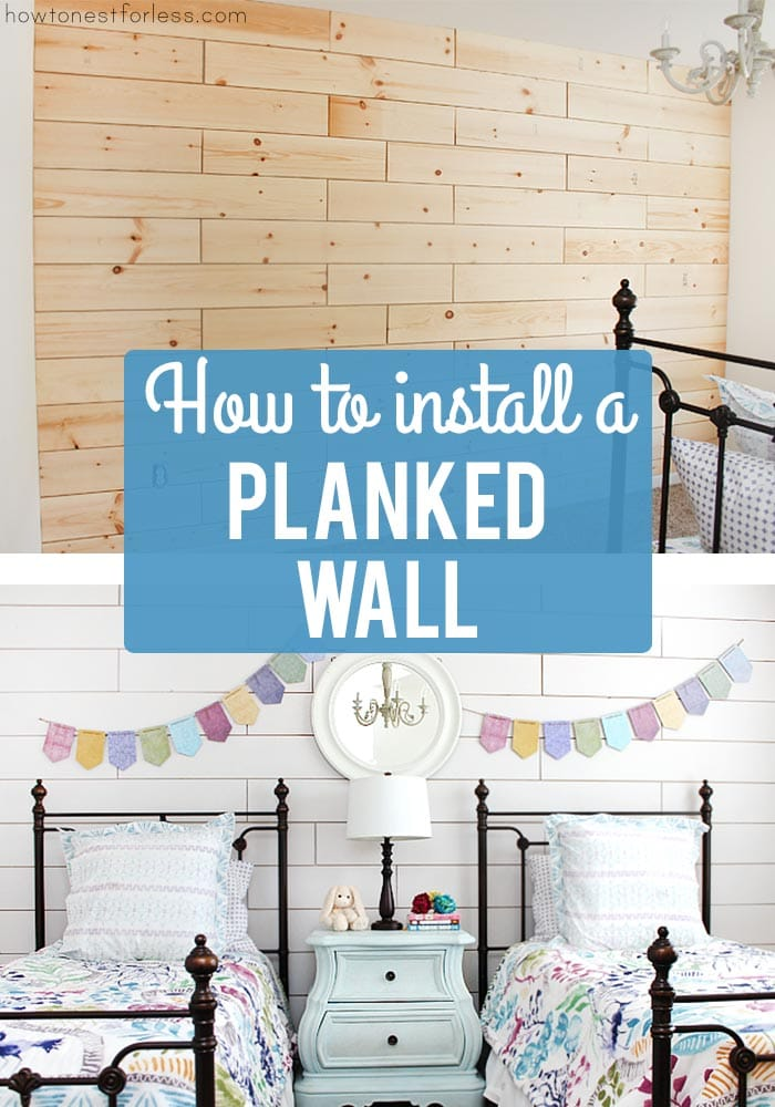 How to install a planked wall poster.