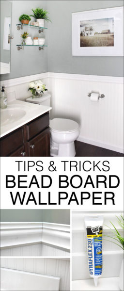 Tips and tricks bead board wallpaper graphic.