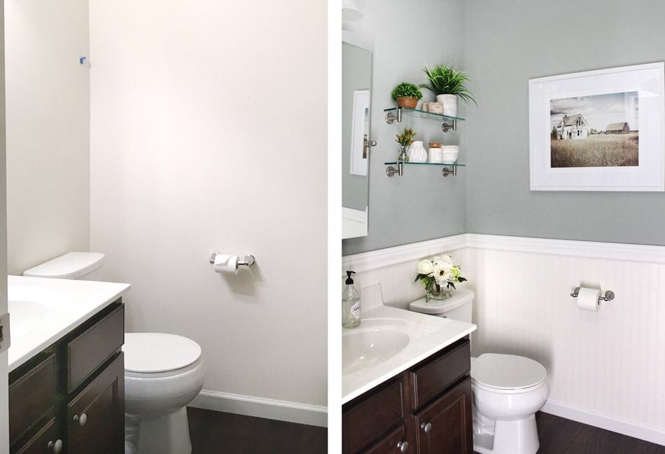 Powder Room Makeover powder room makeover - transform any powder room easily and quickly