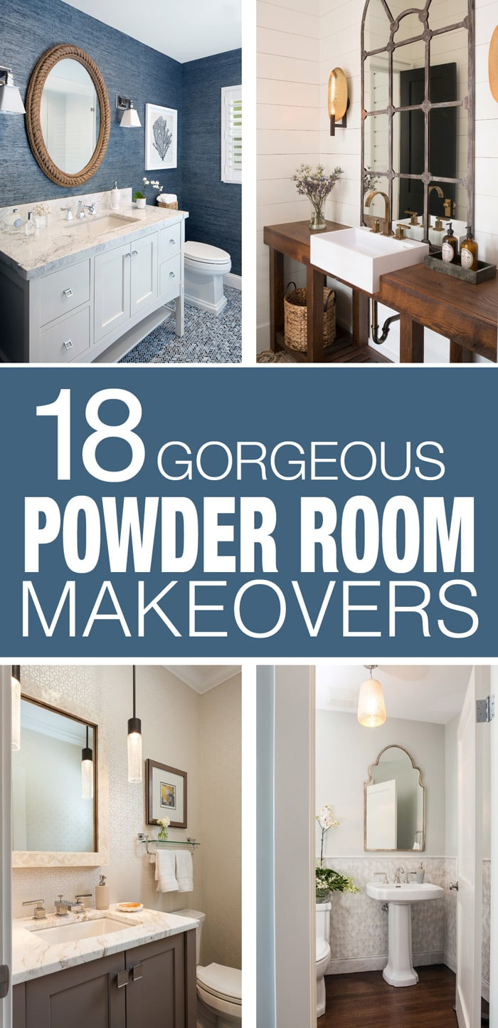 Powder Room Makeover 18 inspiring powder rooms - how to nest for less™