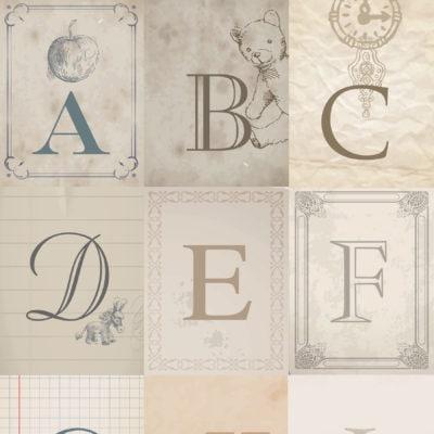 Vintage Alphabet Free Printables