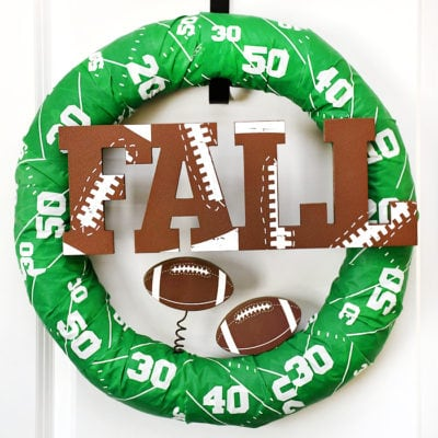 Easy Fall Football Wreath