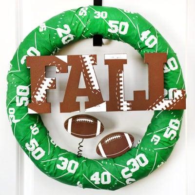 Easy Fall Football Wreath
