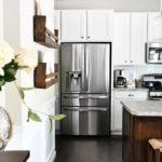 White Cabinets, Dark Kitchen Island
