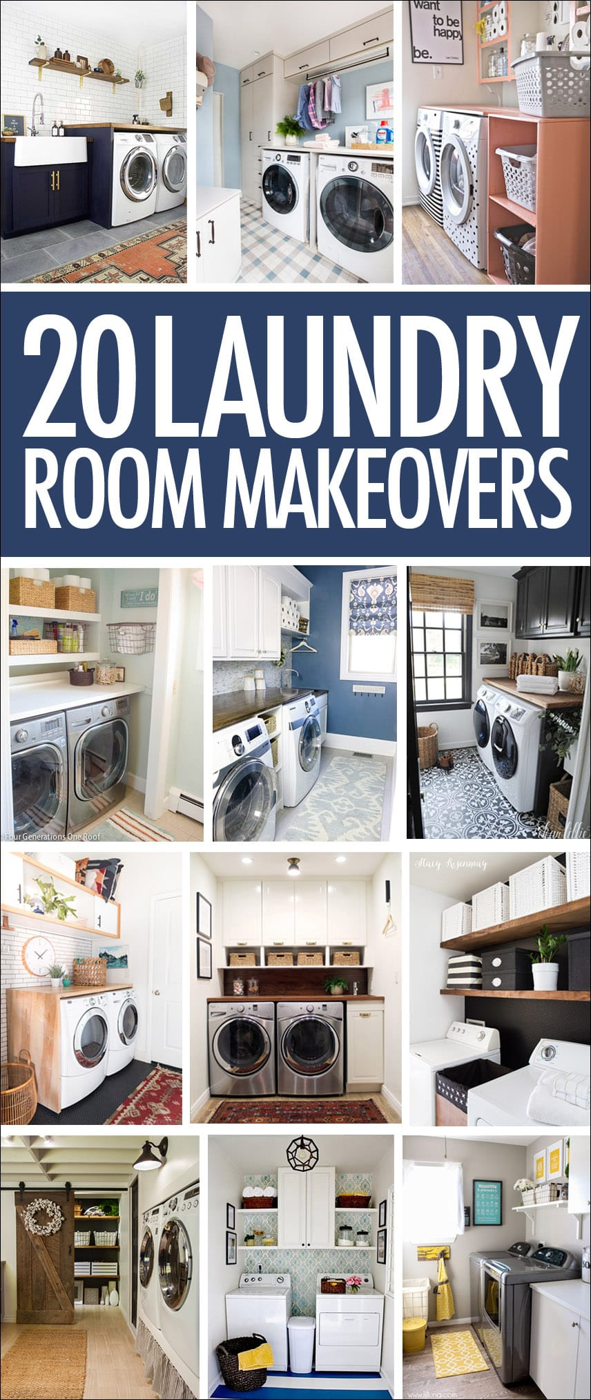 20 laundry room makeovers organization and home decor i know no one needs a pretty laundry room but man these laundry room makeovers might make doing laundry a little bit easier for more decorating ideas solutioingenieria Images