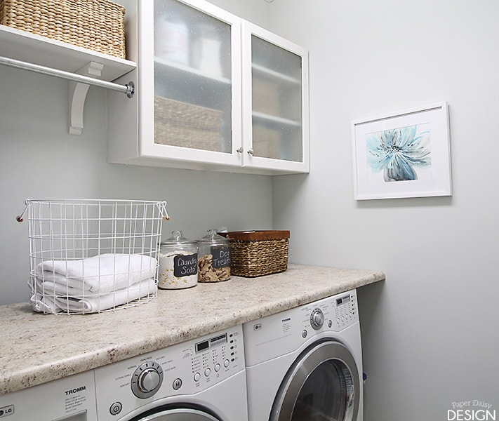 Tiny Laundry Room Budget By Paper Daisy Design